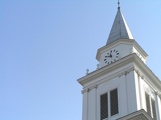 A clocktower at Wheaton College