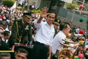 Indonesia's Joko Widodo at an event.