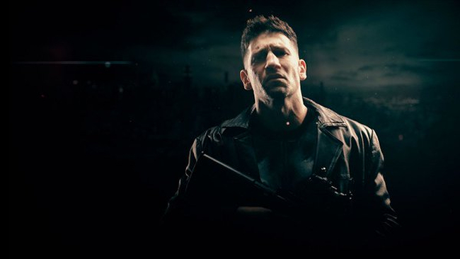 The Punisher, with a tortured expression.