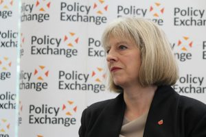 British Prime Minister Theresa May at an event.