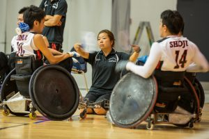 Japanese wheelchair rugby players.