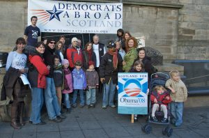 Members of Democrats Abroad Scotland.