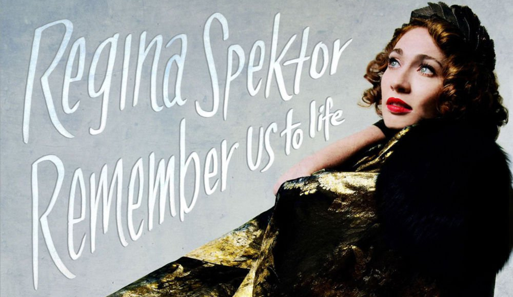 Regina Spektor on the cover of REMEMBER US TO LIFE.