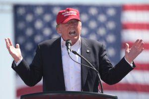 Donald Trump at a campaign event.