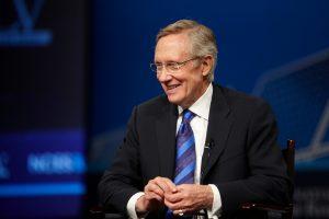 Senator Harry Reid smiling.