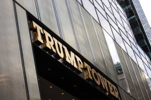 A view of the entry to Trump Tower in New York.