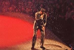 George Michael in concert.