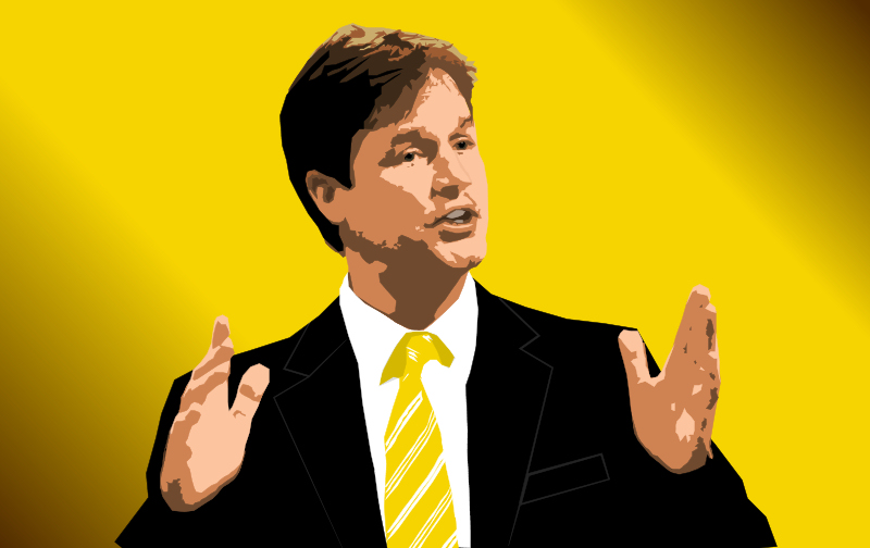 Vector art of Nick Clegg.