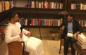 Omar Saif Ghobash and Nasser Khasawneh in conversation.