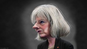 A political cartoon of Theresa May