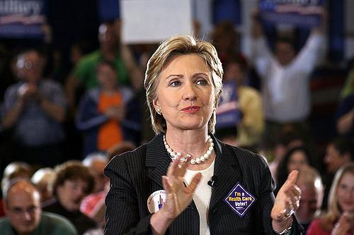 Hillary Clinton at a campaign event