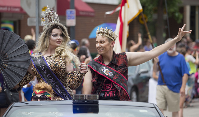 LGBQT royalty in a pride parade