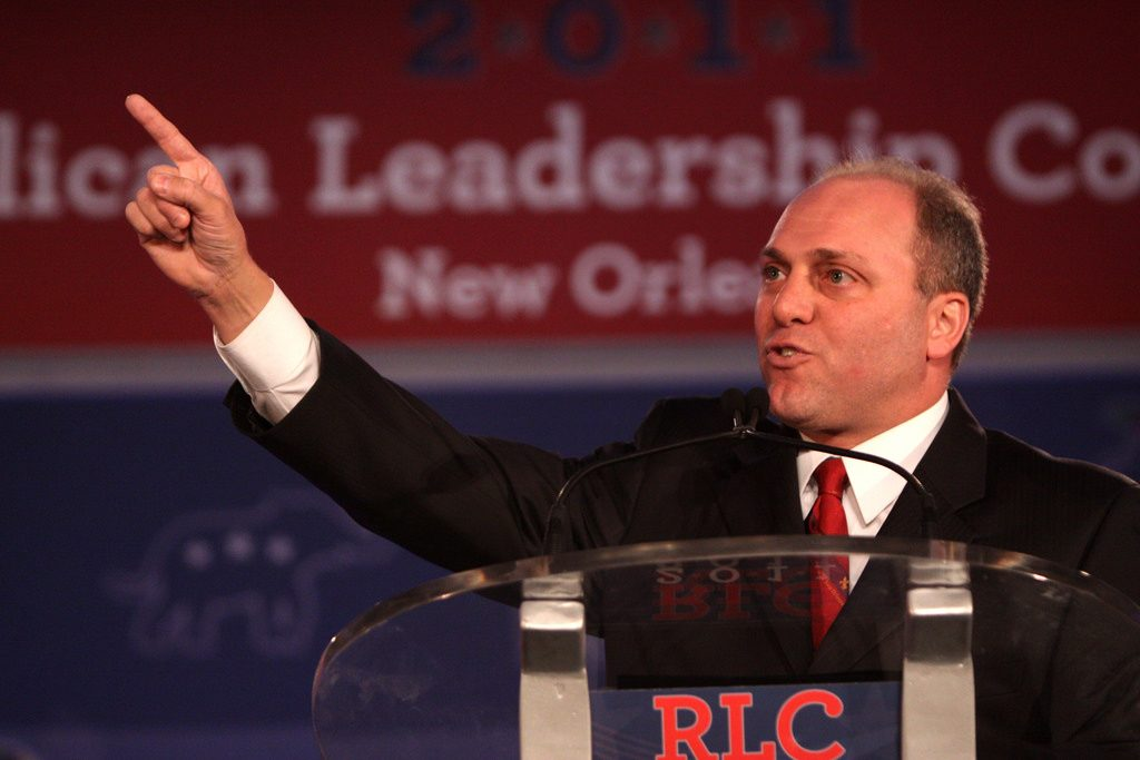 Rep Steve Scalise speaking at an event.