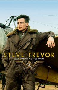 A mockup of a film poster for a movie titled STEVE TREVOR: FEATURING WONDER WOMAN