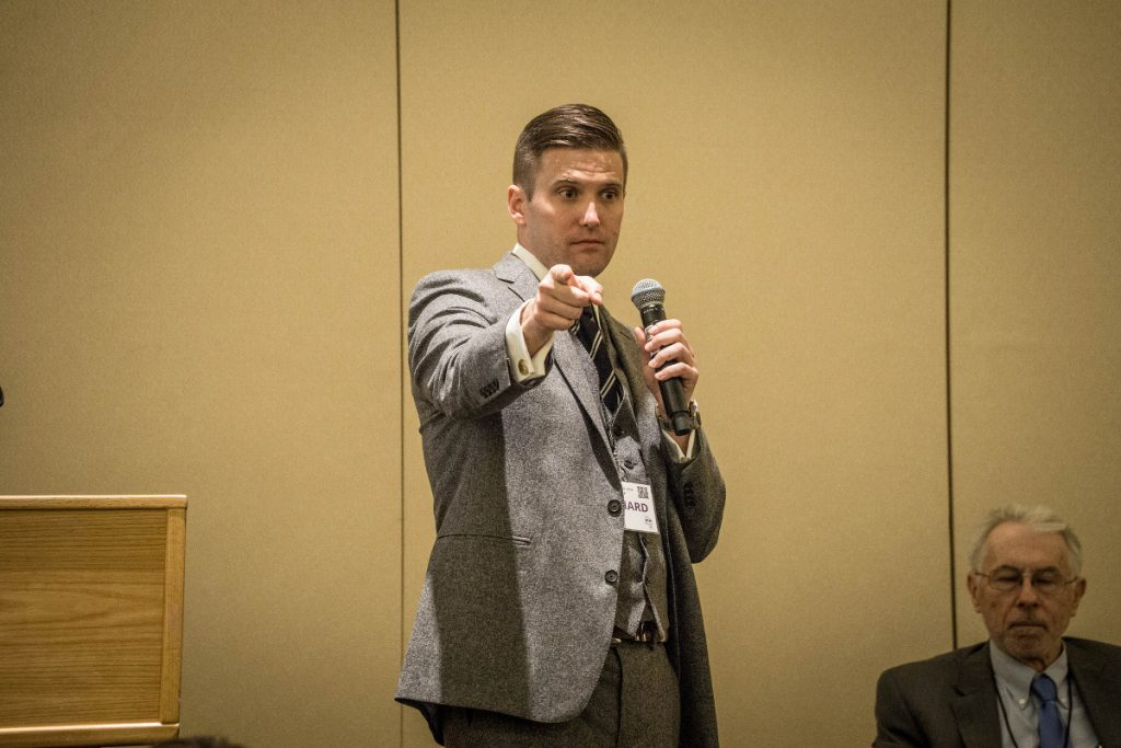 Richard Spencer speaking at an event.