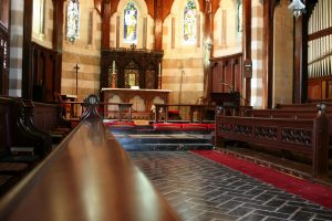 The interior of a chapel.