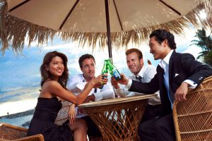 The stars of Hawaii 5-0 in a promotional still