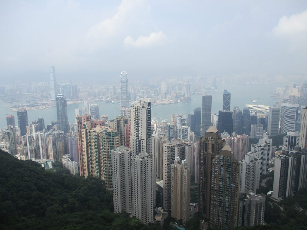 The Hong Kong skyline.