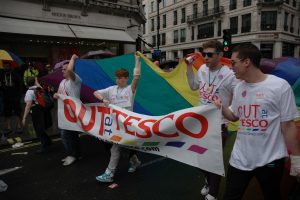 Tesco employees at London Pride