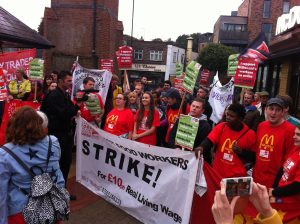 McStrike workers on the picket line