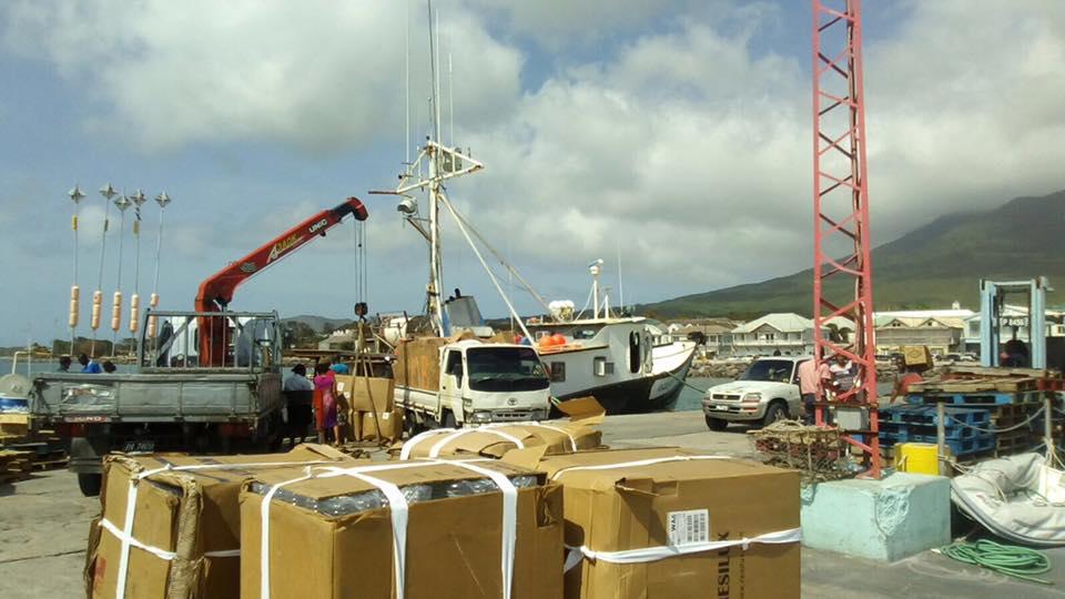 Supplies bound for Anguilla.