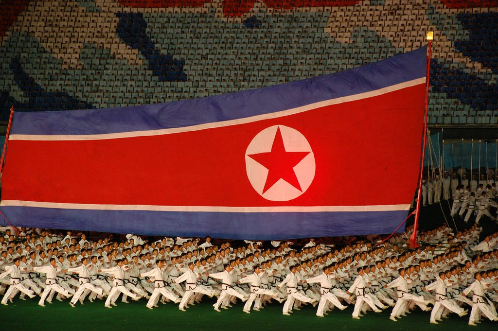 A North Korean military parade