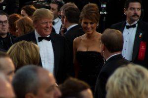 Donald and Melania Trump at an event
