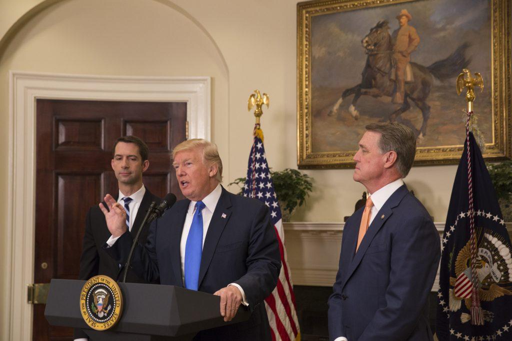 Donald Trump and officials.