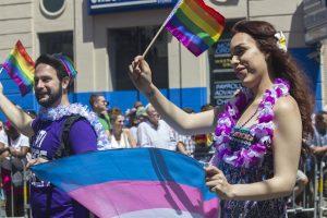 A trans pride parade
