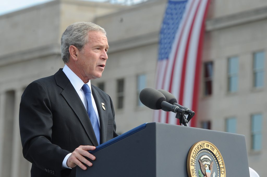 George W Bush speaking at an event