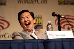 Ken Jeong laughing on a comicon panel