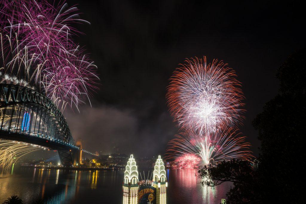 New year fireworks in sydney