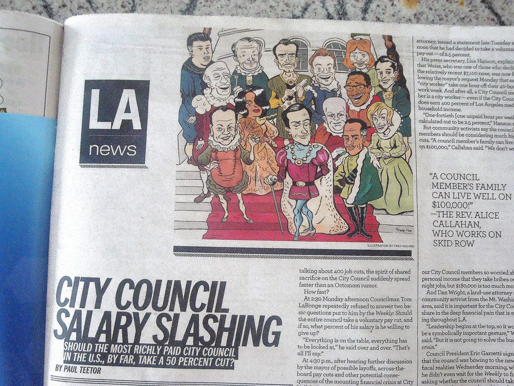 An article in the LA Weekly about city council pay