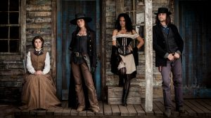 The cast of Strange Empire in a promotional still.