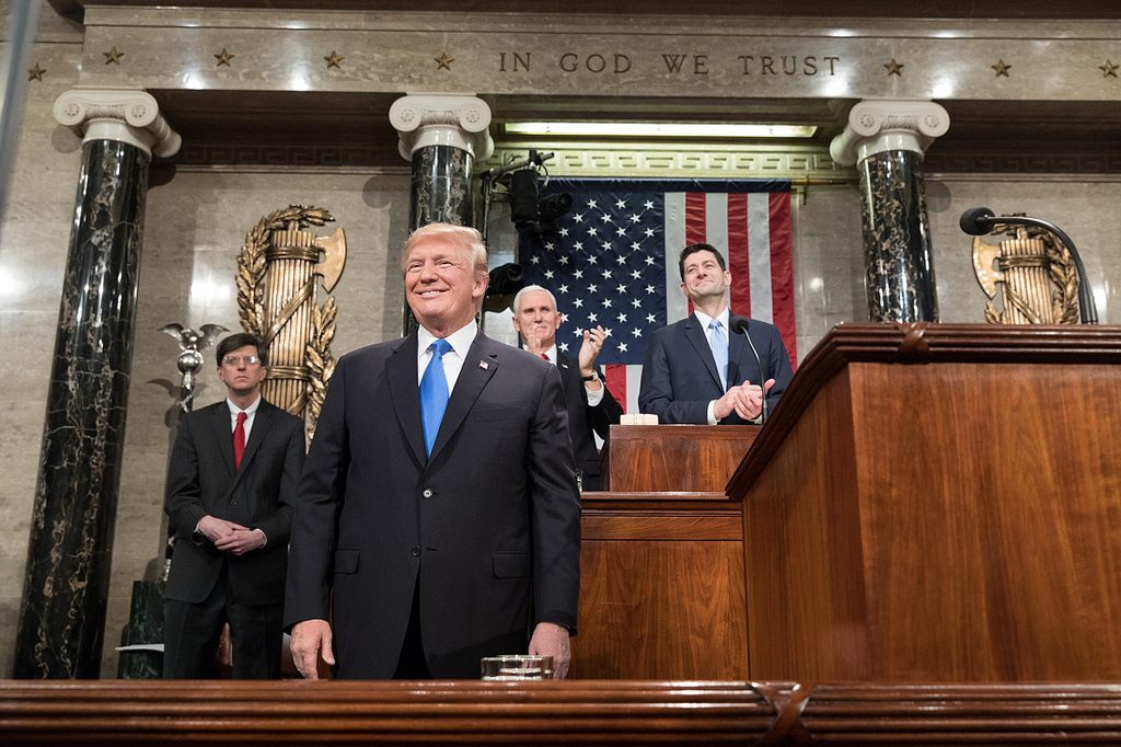 Donald Trump at the state of the union